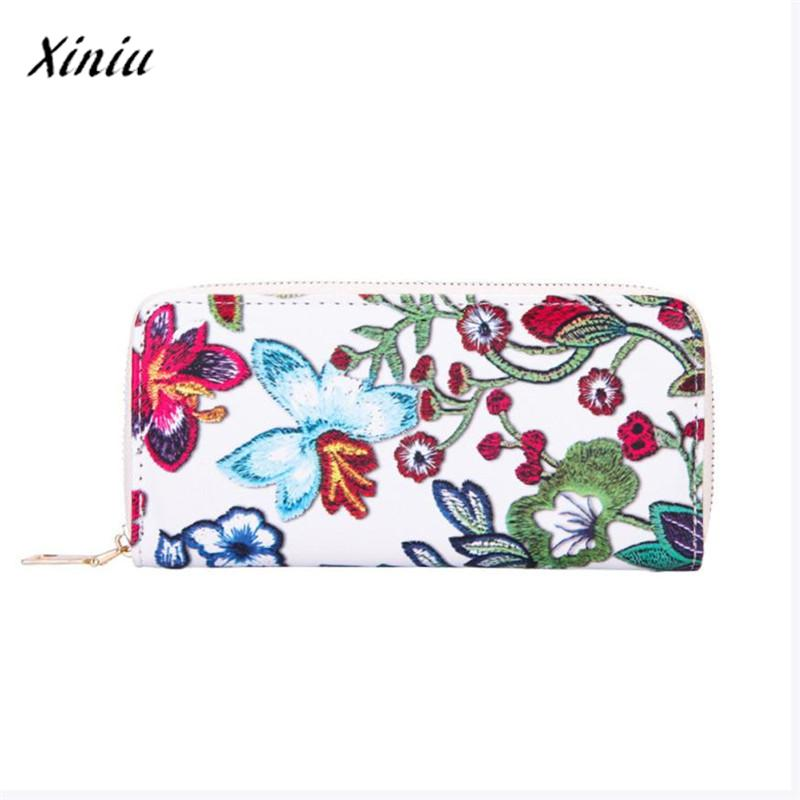 Women's Casual Floral Printing Card Holder Female purse Billetera mujer Wallet Women Billfold Purse Wallet men wallet top quality bifold id card holder purse billfold handbag slim clutch dropshipping gift carteira billetera 17july20