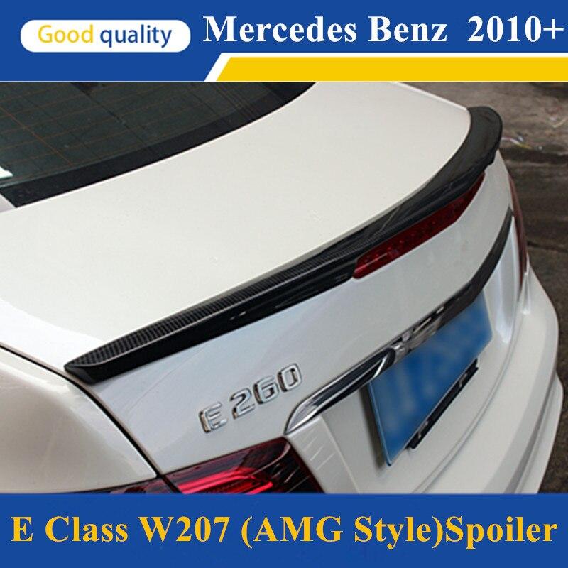 E classe w207 c207 en fiber de carbone pare-chocs arrière tronc spoiler ailes pour mercedes 2010 + 2-door coupé e250 e200