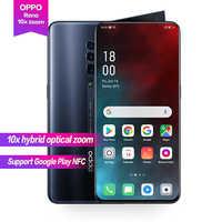 """OPPO Reno 10x zoom 6.6 """"prise en charge plein écran NFC caméra de rotation latérale Super VOOC Octa Core 48MP + 13MP + 8MP 4065mAh identification d'empreintes digitales"""