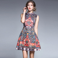 PADEGAO Summer Clothes For Women 2019 New Luxury Aristocratic Jacquard Collar Dress Sleeveless A Line Sliming Fashionable Dress