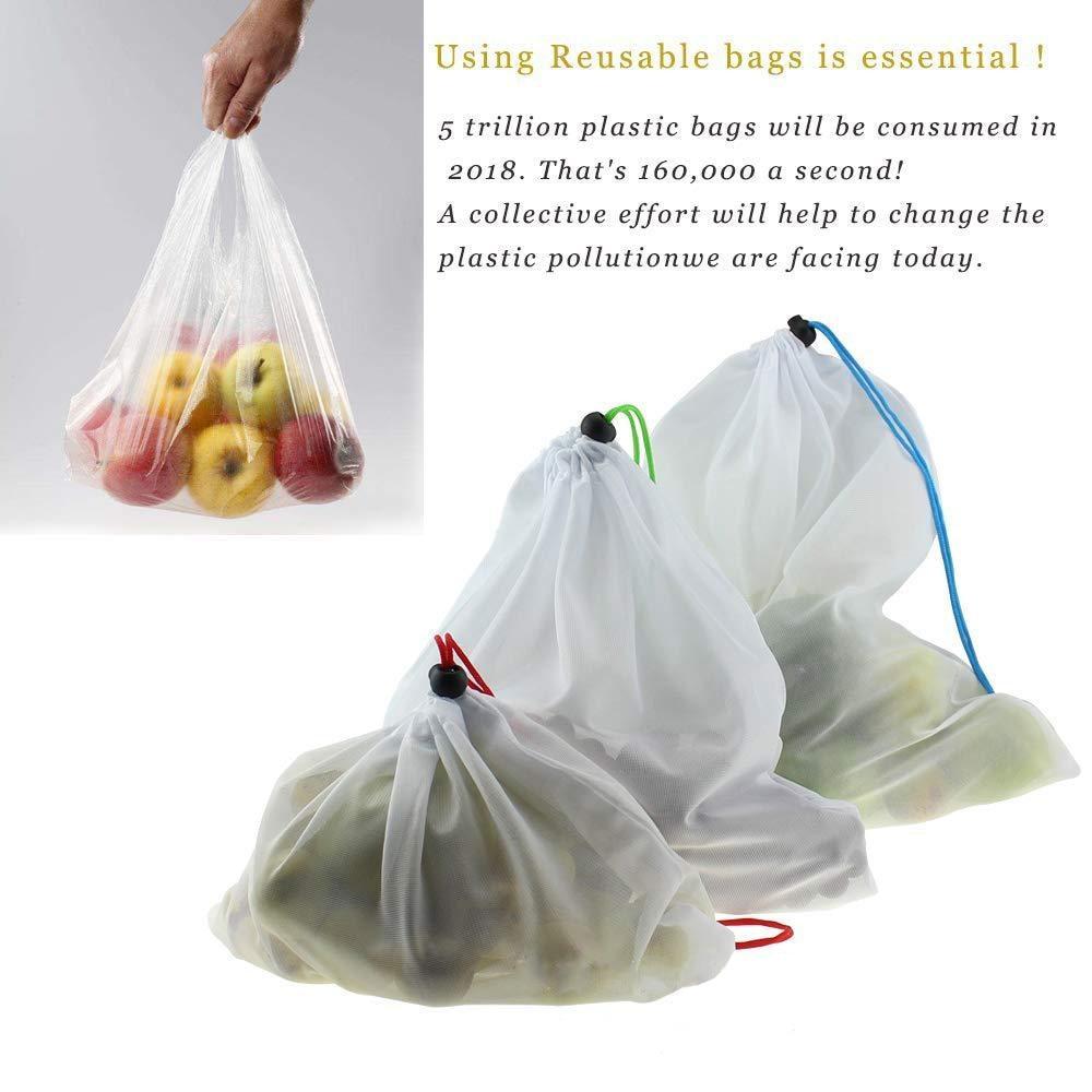 saco de Compras de Frutas e Produtos