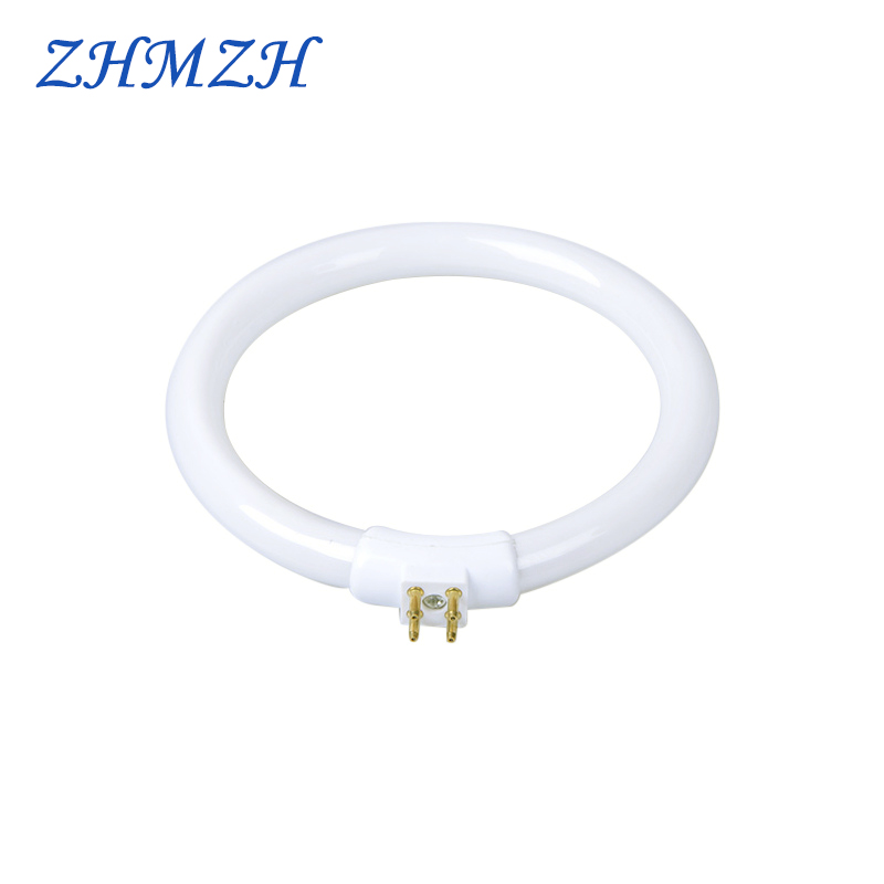 <font><b>T4</b></font> Annular <font><b>Tubes</b></font> Anti-four-pin 11W 110V & 220V Magnifying Glass Light G10q Small Desk Lamps Bulb Fluorescent Ring Lamp White image