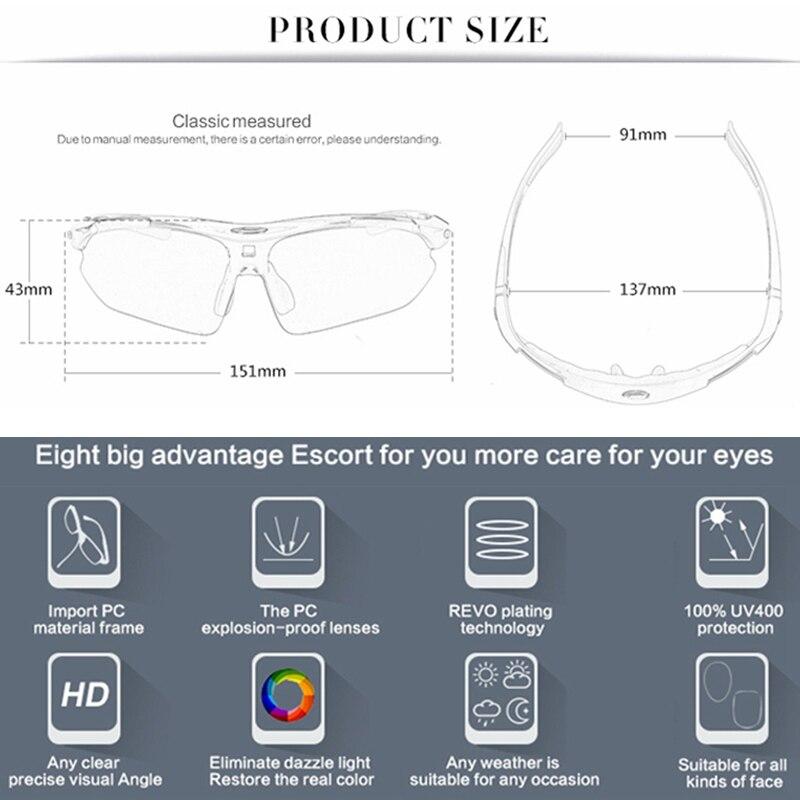 2020 Polarized Cycling Glasses Eyewears 3 Lens Uv400 Mountain Road Bicycle Glasses Mtb Running Fishing Sunglasses Eyewear 5