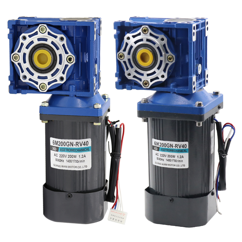 AC220v 200W NMRV40 worm gear motor, forward and reverse, suitable for mechanical equipment, power tools, conveyors, DIY, etc. dc12v 24v 90w 5d90gn permanent magnet gear motor with adjustable speed suitable for mechanical equipment power tools diy etc