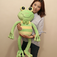 1Pc 65Cm 85Cm Cartoon Stripe Frog Plush Toy Multicolour Frog Cloth Doll Large Frog Pillow Kids