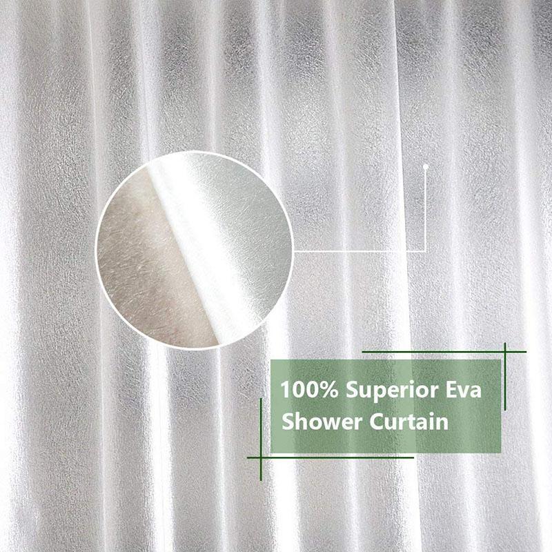 UFRIDAY Nordic Translucent Plastic Waterproof Shower Curtain Silk