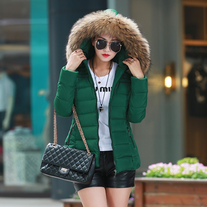 ФОТО Womens Winter Jackets And Coats Real Promotion Full 2017 Women Fur Collar Duck 1950s 60s For Winter Colors Warm Outerwear Coats