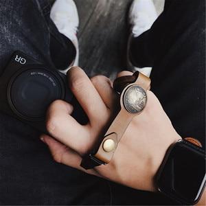 Image 2 - Handmade Leather Camera Wrist Hand Strap For Ricoh Leica Fuji Sony Olympus Canon Nikon Mirrorless Camera