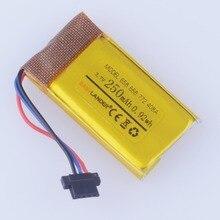 3.7V 250mAh akumulator bateria litowo polimerowa do DVR MIO mivue 368A 526 528 536 568 408A 518 538 658 668 688 772