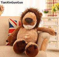 creative toy large 50cm cute jungle lion plush toy soft doll ,throw pillow birthday gift b2712