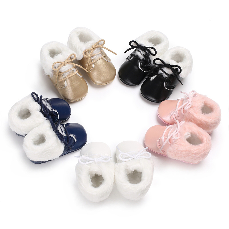 Baby First Walkers Baby Shoes Soft Bottom Non-slip Leather Toddler Shoes for Baies