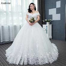 Evebridal женское свадебное платье до пола с аппликацией бисером