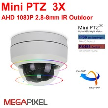 Megapixel AHD 2mp cctv video surveillance security mini ptz outdoor IR Dome Camera auto-focus 2.8-8mm 3x zoom 1080P