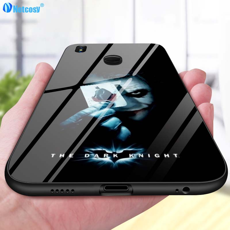 Netcosy For Xiaomi Redmi Note 5 Pro Luxury Tempered Glass Cover For Redmi Note 5 Pro Silicone Bumper Shockproof Phone Back Case