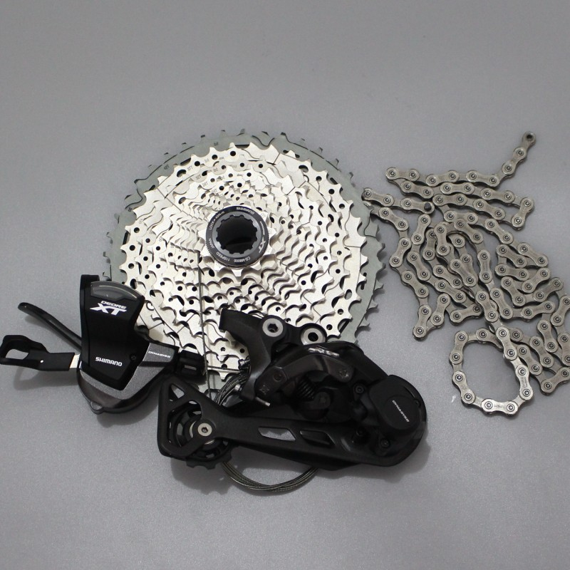 shimano Deore XT M8000 4PCS 11 speed Drivetrain Group Groupset 11-speed sgs Rear Derailleur Shifter Cassette chain цена