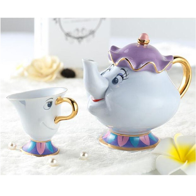 Aliexpress.com : Buy Promotion! Tea set Cartoon Beauty And The ...