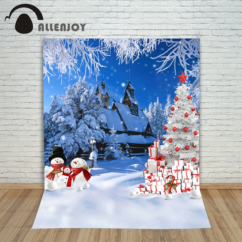 New Christmas backgrounds for christmas photo studio Tree gift snowman snow kid photocall wonderland lovely photography backdrop