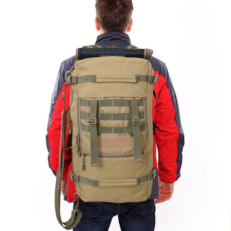 Hommes femmes alpinisme sac à dos militaire tactique Camouflage sac extérieur Camping randonnée Trekking étanche 50 L femme voyage - 6