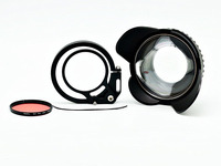 camera 67mm 0.7x fisheye wide angle lens Dome Port with flip adapter for underwater Waterproof housings