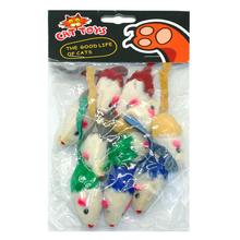 10 pcs False Mouse Toy Cat Mice Animal Toys  Kitten Playing Training Funny Toys  Random Colors
