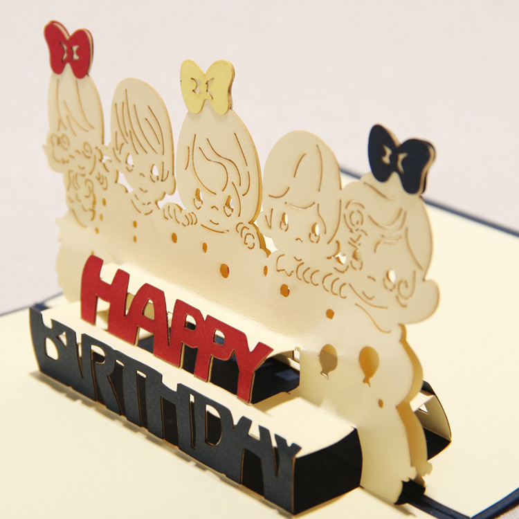 3D Greeting Card The Children Handmade 3D Pop Up Greeting Cards