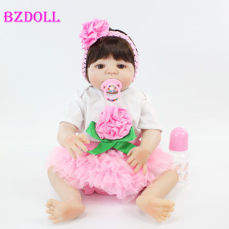55cm Full Silicone Reborn Babt Doll Toy 22inch Popular Vinyl Newborn Princess Babies Girl Bonecas Like Alive Bebe Bathe Toy Play55cm Full Silicone Reborn Babt Doll Toy 22inch Popular Vinyl Newborn Princess Babies Girl Bonecas Like Alive Bebe Bathe Toy Play
