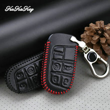 KUKAKEY Genuine Leather Car Remote Key Case Cover Bag For Jeep Wrangler Patriot Grand Cherokee Compass Liberty Metal Key Holder