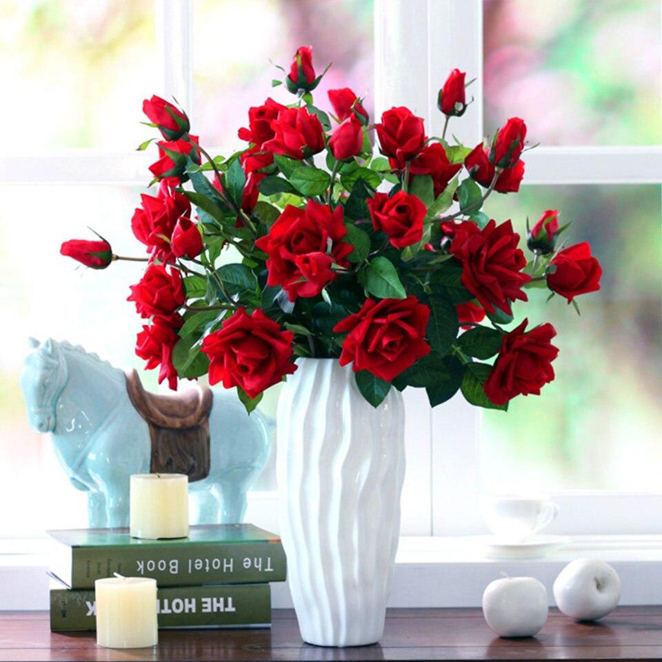 Online Shop 10pcslot Large Artificial Flowers For Wedding Table