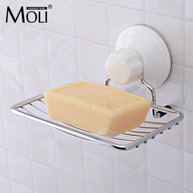 Zuignap wandmontage zeepbakje rvs zeep mand sucker douche ...