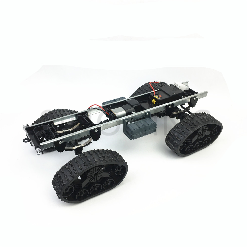 All-terrain Rubber Track Wheel Robot Chassis Military Truck 4WD Climbing DIY Modified Car Kit
