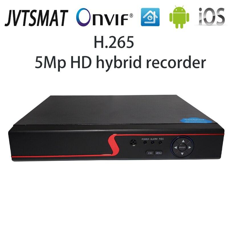 jvtsmart AHD DVR 4Channel 8Channel H.265 5mp-n 4mp-n Hybrid Video Recorder CCTV AHD CVI TVI Analog IP Security 1080P 4CH 8CH xm