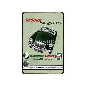 Image 4 - [ Mike86 ] Motor oil TEXACO ESSO  Tin Sign Vintage Hotel Pub Retro Mural Iron Painting art Poster Art 20*30 CM LT 1730