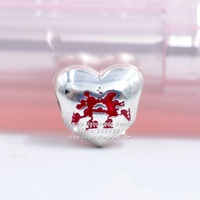 S925 Sterling Silver Parks Exclusive Christmas Holiday Mickey Minnie kisses Charm beads Fits European Style Bracelets