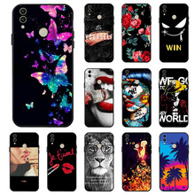 Ojeleye Fashion Black Silicon Case For Huawei Honor 8C Cases Anti-knock Phone Cover BKK-L21 Covers