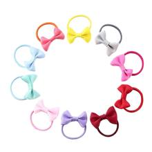 Fashion Women 10pcs Bowknot Elastic Hair Rubber Bands Kids Bow Tie Hair Ring Rope Headwear Ornaments For Party(China)