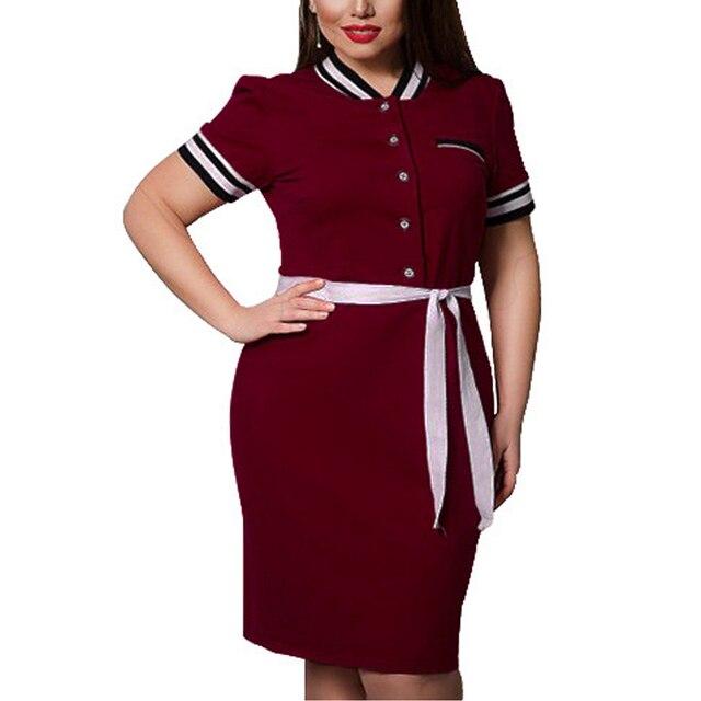 b368b169fb 5XL 6XL Plus Size Office Dresses female Elegant bodycon Dress 2018 Summer Large  Big Size party Dresses Women Clothing vestidos
