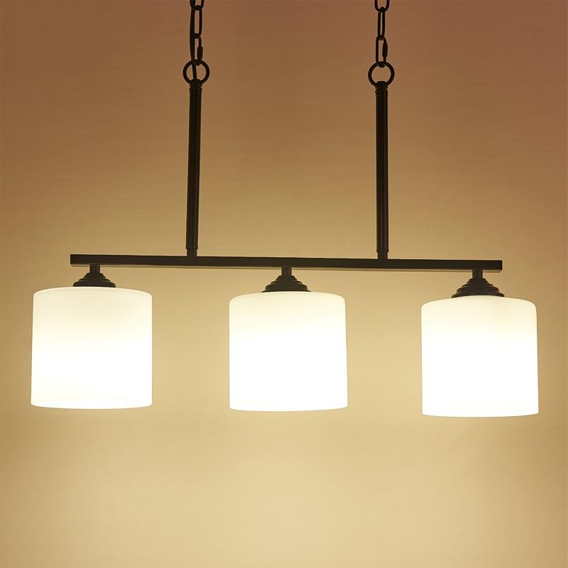 Lámpara colgante moderna de cristal para sala de estar, lámpara colgante de hierro para dormitorio, lámpara colgante, iluminación decorativa para el hogar, Luminaria