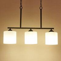 Nowoczesne oświetlenie żyrandol salon szklane lampy wiszące sypialnia żelaza lampy wiszące Hanglamp oświetlenie domu dekoracyjne Luminaria w Wiszące lampki od Lampy i oświetlenie na
