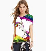 New Fashion Women Men 3d T Shirt Horse T Shirt Printed T Shirts Rainbow Pegasus T