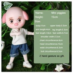 Image 2 - חלום פיות 1/12 BJD דודו Pigies בובת 15cm מיני בובת 26 משותף גוף חמוד ילדי מתנת צעצוע מלאך הפתעה ob11