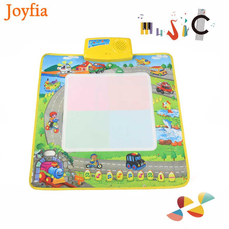 50x50 cm Nước Vẽ Mat với Giao Thông Vận Tải Mô Hình Đầy Màu Sắc Trẻ Em Học Tập Đồ Chơi Trẻ Em Musical Sơn Ban Mat Doodle trò chơi [