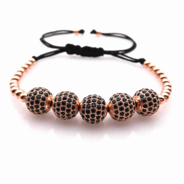 2016 Nova Anil Arjandas Pulseiras, ouro rosa/ouro/preto/prata pulseira arjandas anil, micro pave cz pulseiras trança para as mulheres