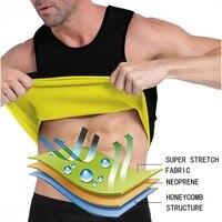NINGMI Body Shaper Mens Sauna Vest Neoprene Hot Sweatshirt Tummy Control Slimming Fitness Tracksuit Tank Top