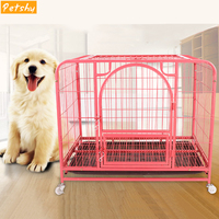 Petshy Large Medium Dogs Cage House Collapsible Easy Install Pets Kennel Safe Bulldog Mastiff Boxer Sleeping Resting Metal Cages