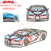 DHL Legoing Technic 20086 Bugattied Super Racing Cars Chiron Model Building Blocks Brick Toy For Children Compatible 42083