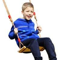 Children Wooden Swing Chair Hammock Garden Furniture Indoor Outdoor Hanging Seat Child Kids Swing Seat Patio