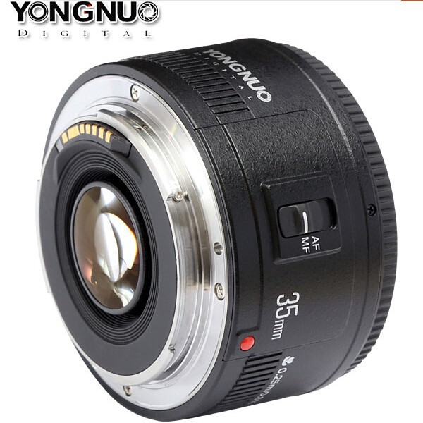 Yongnuo 35mm lens YN-35mm YN35mm F2 lens Wide-angle Large Aperture Fixed Auto Focus Lens For canon mf2300 f2