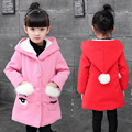 Girls spring coat 2017 girls clothes girls wool coat cartoon children clothing kids clothes 2-12 years kids jacket for girls