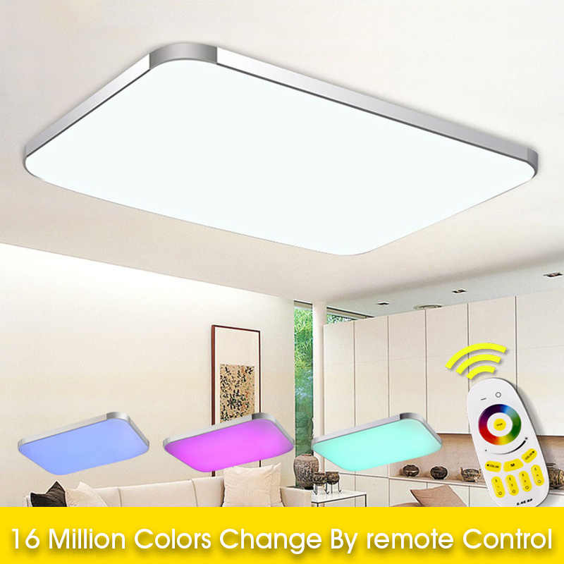 2019 Top Fashion Abajur Seven Colors Of The Spectrum Plate Ceiling Light Rgb+cool White+warm Smart Led Lamp / For Living Room