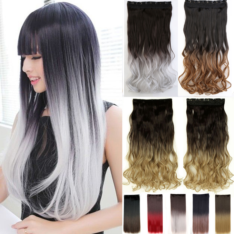 Women Fashion 25inch 62cm One Piece Clip In Hair Extention